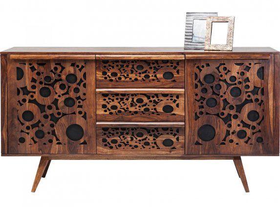 Komoda Visual Delight I brązowa, drewniana, lakierowana i matowa, styl współczesny