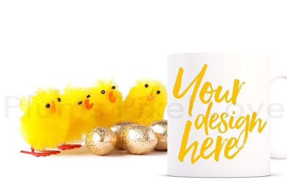 Easter Mug Mockup by Plums Pixel Love on @creativemarket