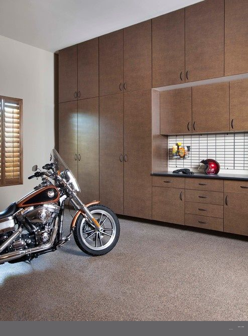 Passionate Garage Cabinets Sears Built In Contemporary Storage: Áwesome Garage  Cabinets Sear In Contemporary Garage And Shed With Brown Cabi.