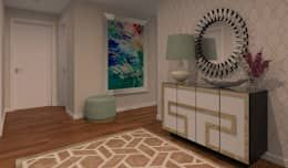 Couloir, Entrée & Escaliers de style de style Moderne par Veludo Vermelho Design de Interiores