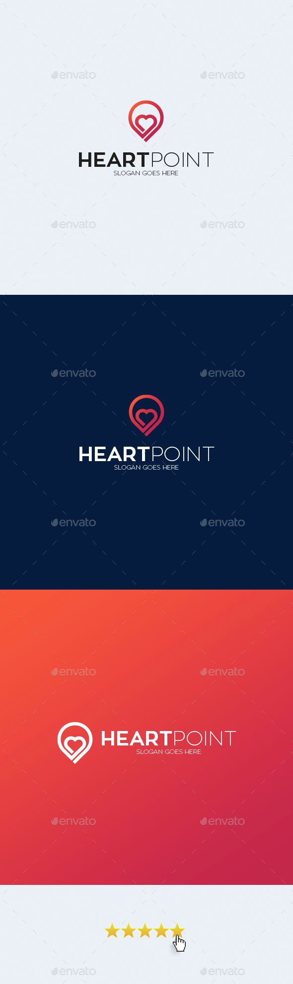 Heart Point Logo Template — Vector EPS #web #heart • Available here → https://graphicriver.net/item/heart-point-logo-template/14805473?ref=pxcr