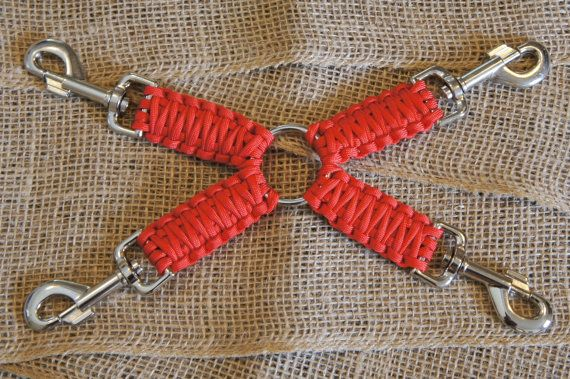 Small 4 Way Hog Tie Paracord Red by ParaCordLadyTHC on Etsy