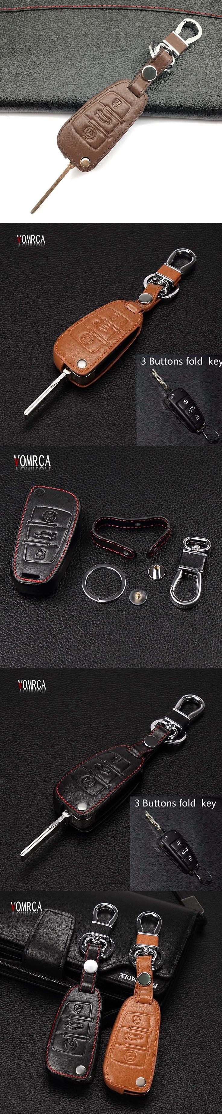 Car Key Cover Case Leather for Audi Sline A3 A5 Q3 Q5 A6 C5 C6 A4 B6 B7 B8 TT 80 S6 Auto Key Cover Holder Protector Accessories