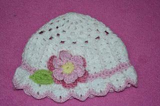 Poplap met 'n Stoflap -Crochet hat- link to pattern.