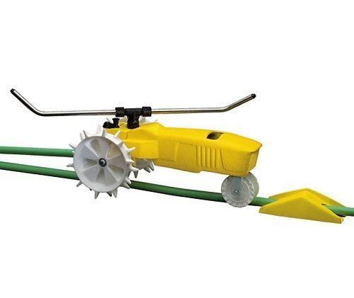 Traveling Sprinkler Lawn Metal Yard RAIN Automatic Walking Garden Auto Water  #TravelingSprinkler