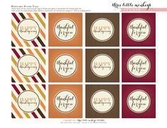 FREE Thanksgiving Printables from Three Little Monkeys Studio | Catch My Party