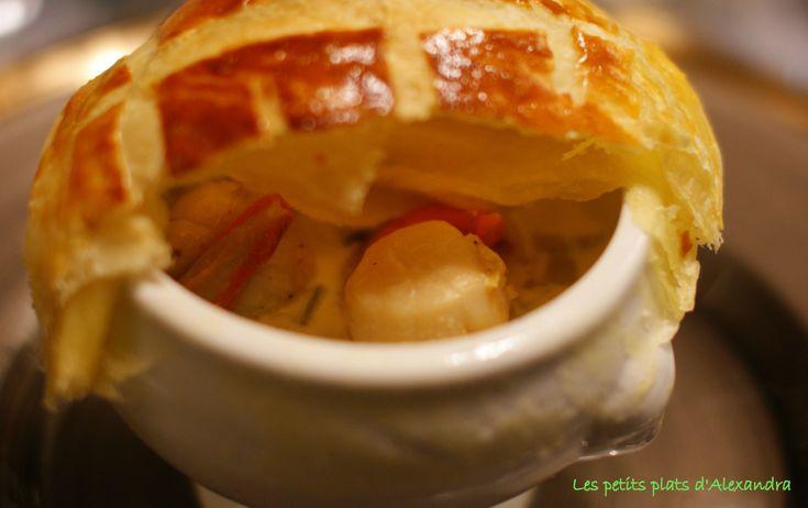 Cassolette noix de st jacques fondue de poireaux                                                                                                                                                                                 Plus