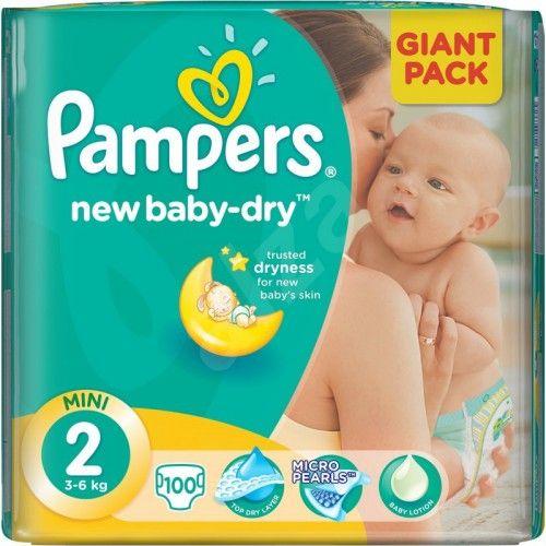Pampers New baby 2 mini 3-6 kg 100 kusů  Nakupte dětské pleny nejlevněji! Doprava zdarma při objednání za 1000 Kč!  https://babyplenky.cz/