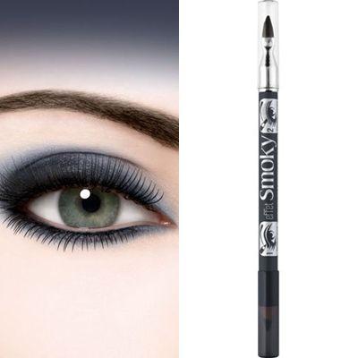 ΤοBourjois Eyeliner To Smudge Pencil Effect Smoky είναι ένα μολύβι ματιών διπλής όψης, ιδανικό για να κάνετε smokey eyes μακιγιάζ,με 2 απλά βήματα. Ημαλακή μύτη του μολυβιού είναι κατάλληλη για να σχηματίσετε με ακρίβεια και ευκολία τη λεπτή γραμμή, στη βάση του βλεφάρου. Στην άλλη