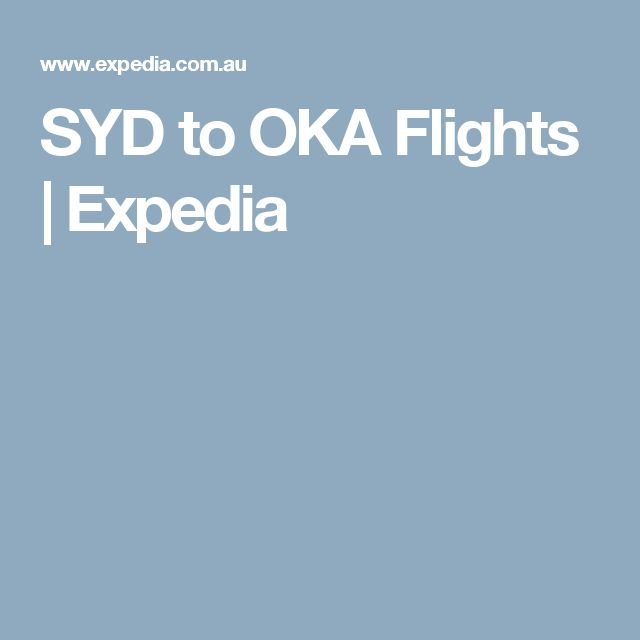SYD to OKA Flights | Expedia