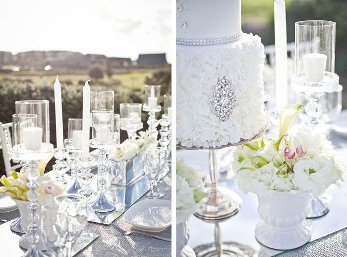 'Diamonds Forever' Wedding Styling Ideas crystal silver white