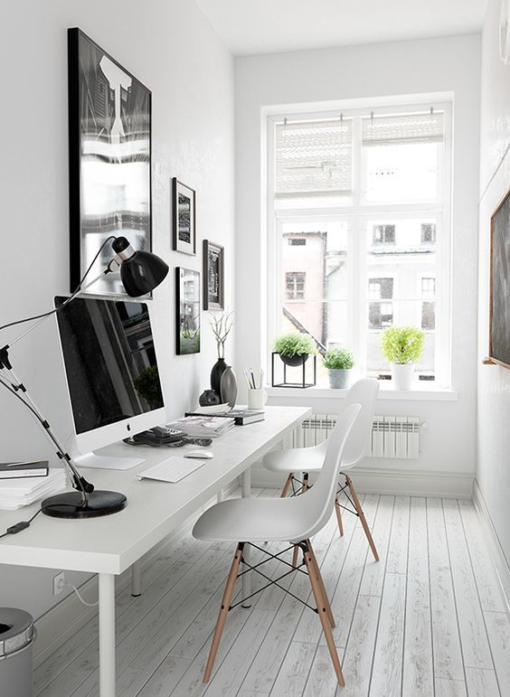 office black. How To Create The Ultimate Black And White Office On A Budget L