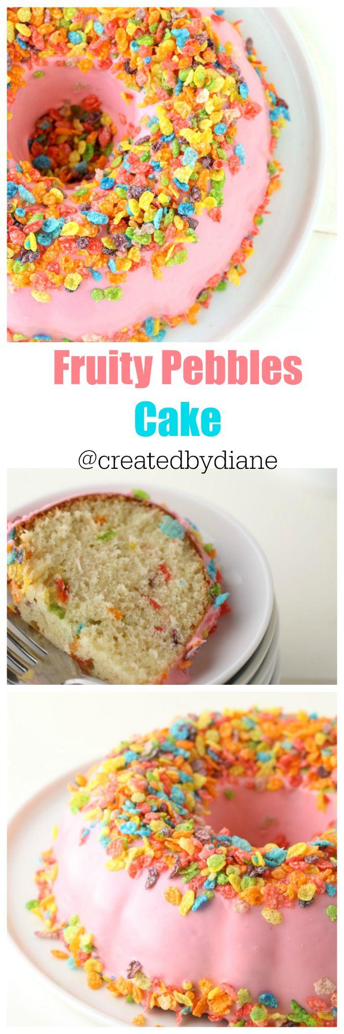 fruity-pebbles-cereal-cake-createdbydiane (Fruity Dessert Recipes)