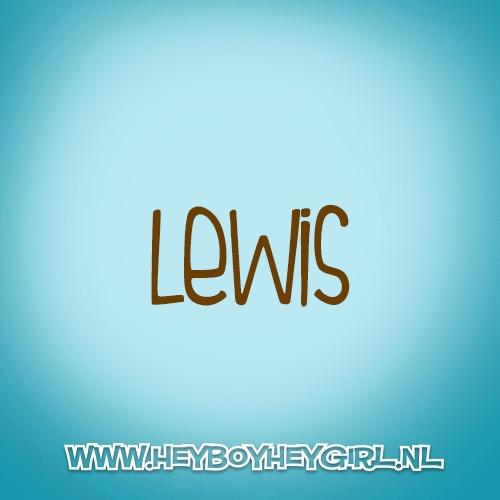 Lewis (Voor meer inspiratie, en unieke geboortekaartjes kijk op www.heyboyheygirl.nl)
