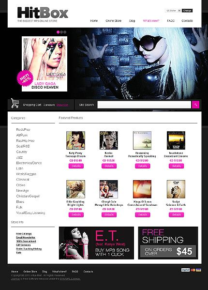 Music Store VirtueMart Templates by Delta