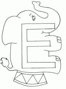 8 best Letter E Coloring Pages images on Pinterest Color posters