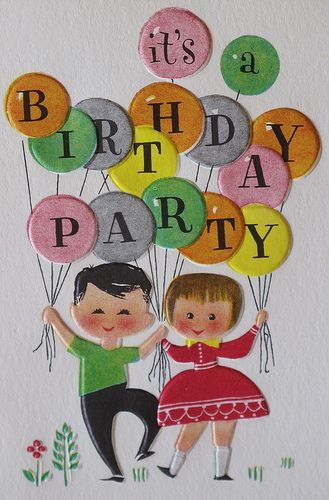 Vintage Hallmark Birthday Party Invitation | Flickr - Photo Sharing!