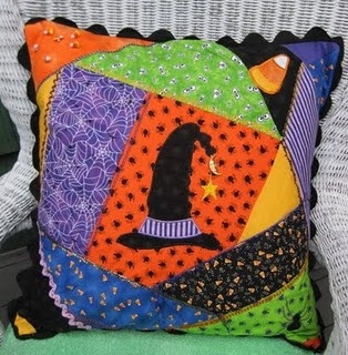 one more Halloween crazy quilt - I think I like the more victorian ones better