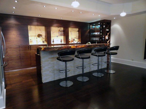 50 Man Cave Bar Ideas To Slake Your Thirst Manly Home Bars Modern Basement Basement Bar Design Bars For Home