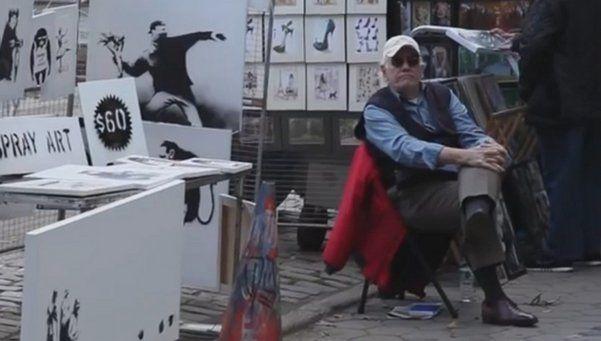 El artista Bansky decidió vender sus obras en Central Park
