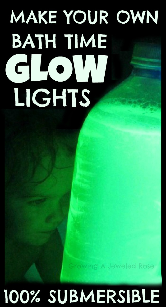 Make your own submersible GLOW lights- great for the bath or pool