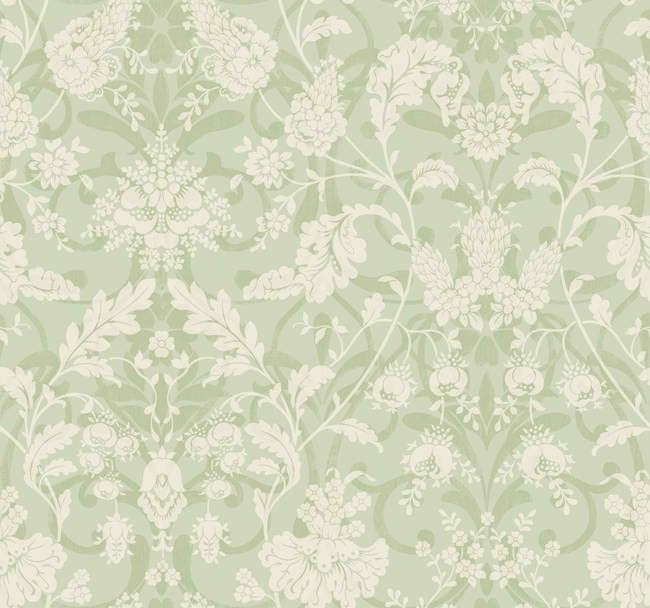 interior place blue green white ad8174 floral damask