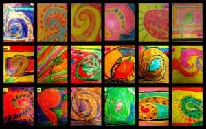 Bright vibrant colours.