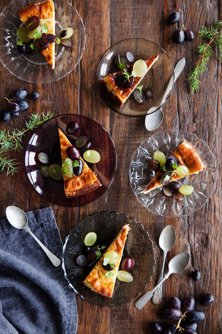 K-Ruoka | Gluteeniton vuohenjuustokakku