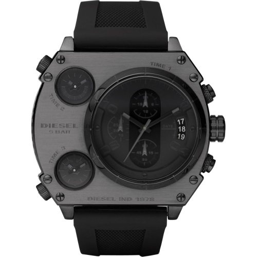 Diesel Watches SBA: Time Pieces, Cuffs Watches, Black Dial, Black Rubber, Watches Style, Black Watches, Diesel Watches, Colors Watches, Coolest Watches