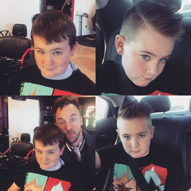 Hair makeovers are for boys too! Nathan is sporting his new style by James. (Boys haircut, pompadour, back to school hairstyle)