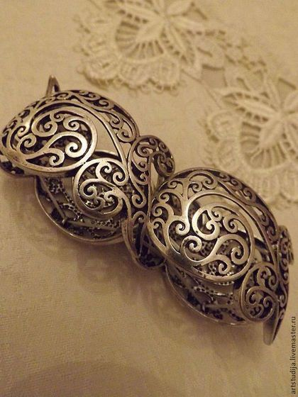 Серебряный Браслет - Филигрань - серебряный,серебряный браслет,стильный браслет