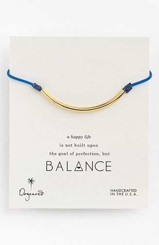 Dogeared 'Balance' Bracelet Ocean Blue/ Gold Dipped from Nordstrom on shop.CatalogSpree.com, your personal digital mall.