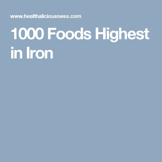 1000 Foods Highest in Iron