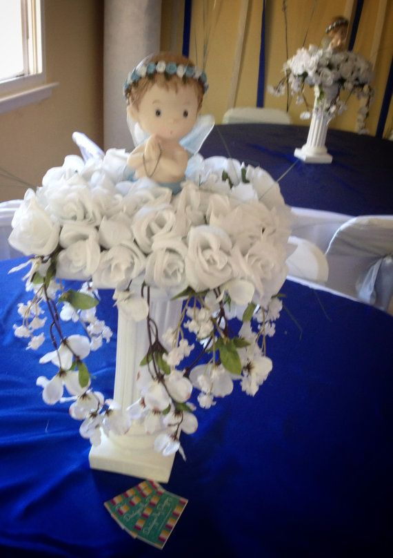 Best ideas about boy baptism centerpieces on pinterest