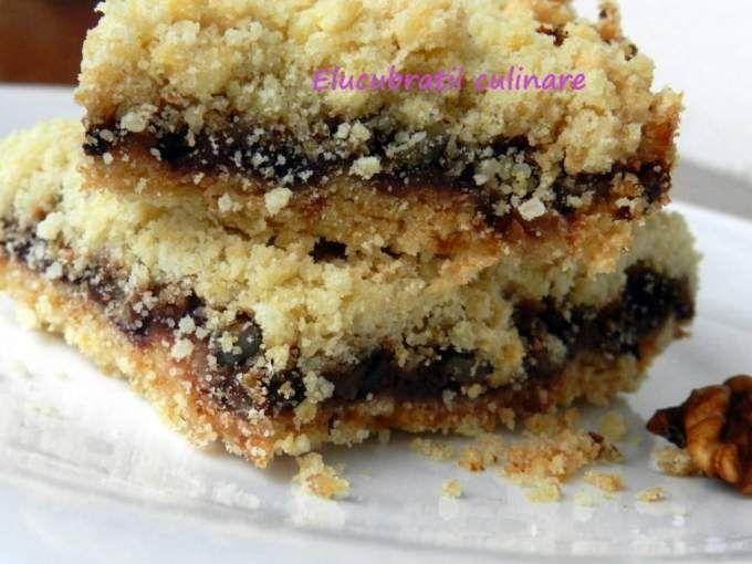 Prăjitură cu gem și nucă - rețetă de post