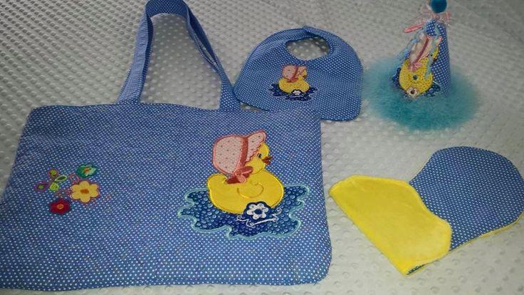 Baby Diaper Bag, Duck Diaper Bag, Handmade Diaper Bag Set, Burping Cloths, Bib & Hat Sets, Custom Diaper Bags, Blue Diaper Bag by MaterialGirl338 on Etsy