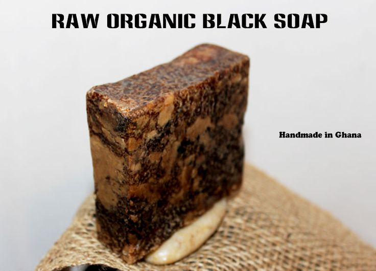 Raw Organic Black Soap: For all skin types including sensitive skin. Black soap is known for its healing properties like helping to remove scars caused by acne and skin irritation. Black soap is great for removing makeup and can be used by the entire family. Some Benefits of Black Soap: 1. Helps to remove scars caused by acne. 2. Black Soap is beneficial for skin diseases, for reducing discomforts