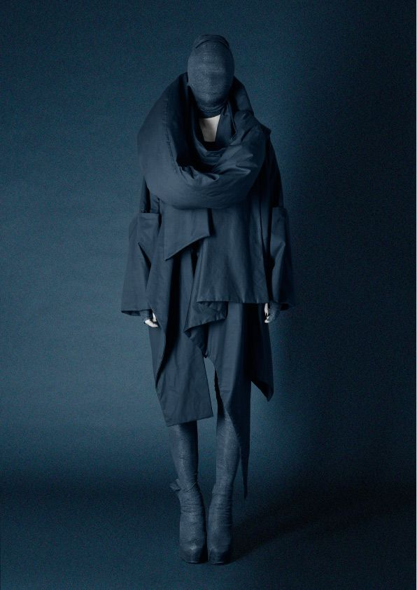 Dark 'avant-goth' design by Danish fashion designer Barbara Í Gongini. Sustainability and fair trade is also of importance to the designer