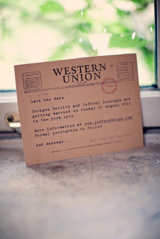 51d551de53026d31dd37d8edb3687e5b  save the date cards funny save the dates - Western Union Wedding Commercial