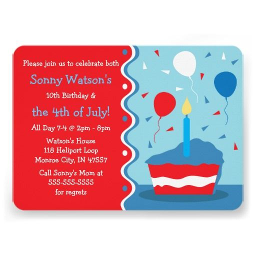 40 Best Images About 4TH OF JULY INVITATIONS On Pinterest