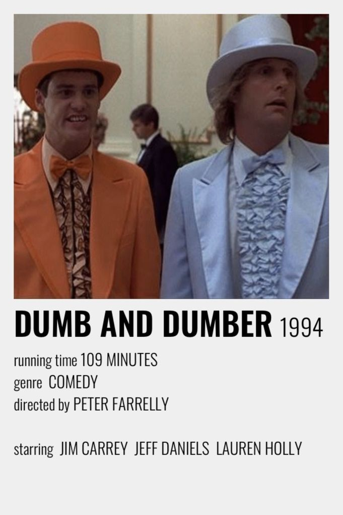 Dumb And Dumber Polaroid Poster Movie Poster Wall Film Posters Minimalist Movie Posters Minimalist