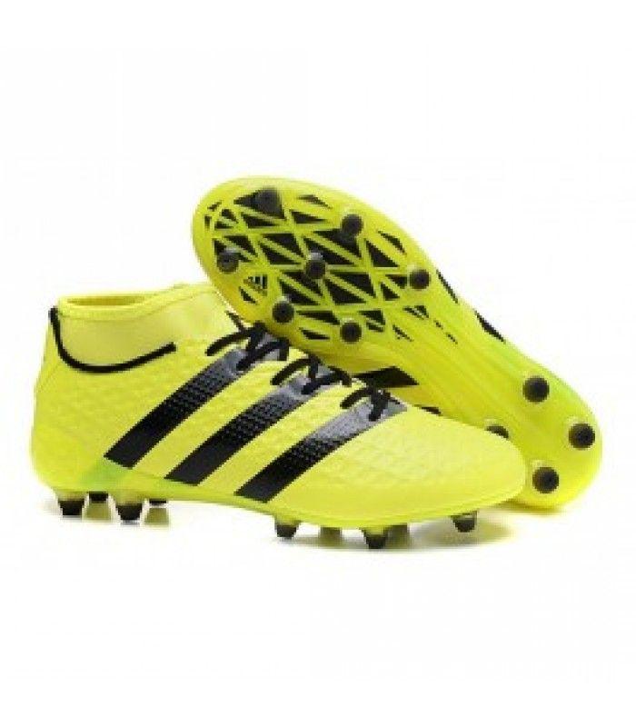 adidas Performance ACE 16.1 PRIMEKNIT AG - Chaussures de foot à crampons jaune ReWiTuIy9