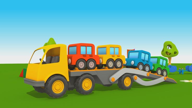 Cartoni Animati per Bambini - Leo il Camion Curioso: come fare il camion bisarca?
