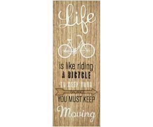 Hayat Bisiklet Sürmek Gibidir Motto Tabela