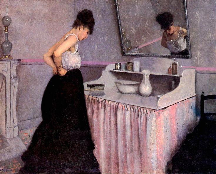 Gustave Caillebotte - Femme à sa toilette ______________________________ ♥♥♥ deniseweb.free.fr ♥♥♥