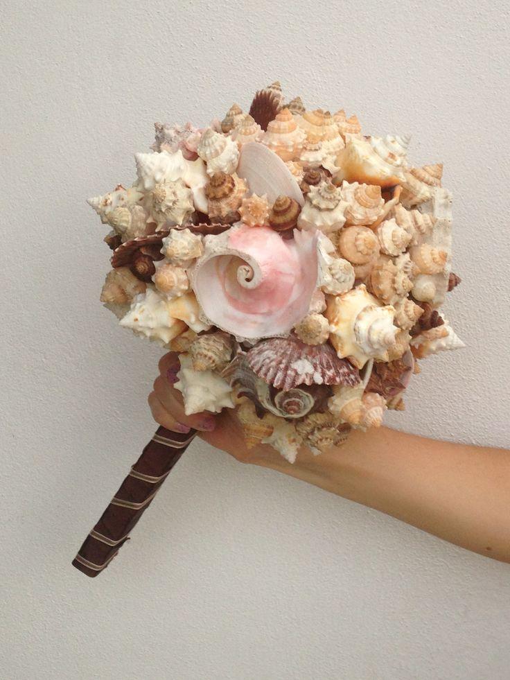 Ramo de conchas. Bouquet of shells from TEZ Tour Mexico Букет из ракушек для наших молодожён от Тез Тур Мексика