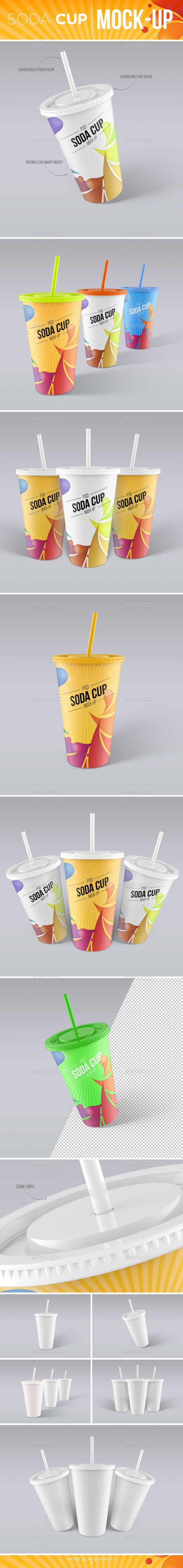 Soda Cup Mock-Up  PSD Template • Download ➝ https://graphicriver.net/item/soda-cup-mockup/12268553?ref=pxcr