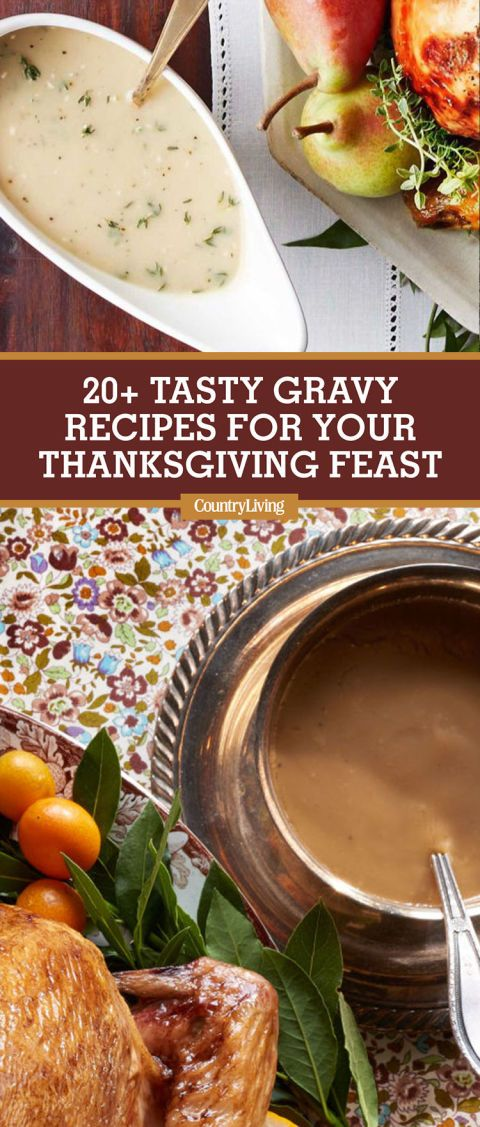 Save these Thanksgiving gravy recipes for later by pinning this image, and follow Country Living on Pinterest for more.