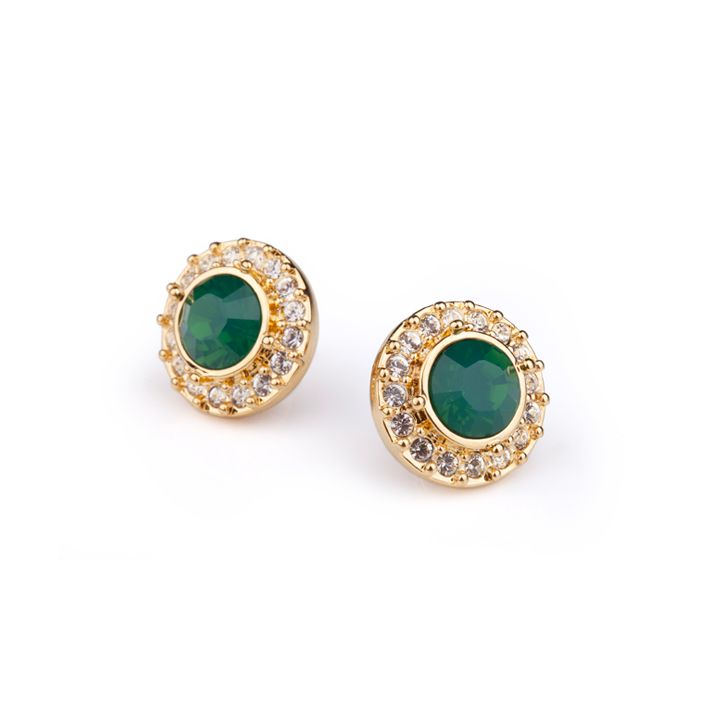Lolu Rhoda Empire Palace Green Studs