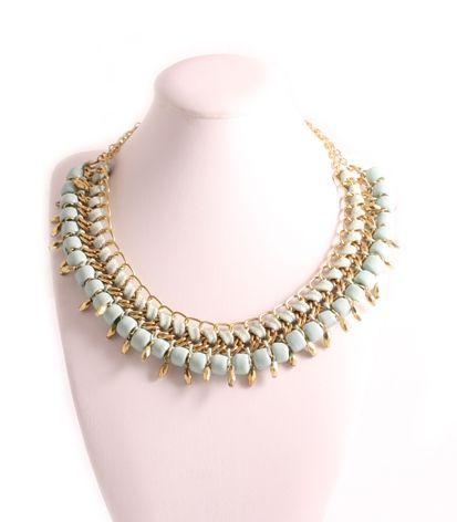 Ketting kort gevlochten koord + kralen - 3500279086 - ketting - bijoux op Shine dames accessoires